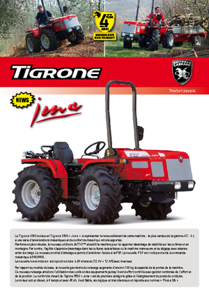 Tractoren met vierwielaandrijving Carraro Tigrone 5500