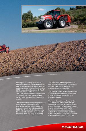 Tractoren met vierwielaandrijving McCormick XTX 145 M