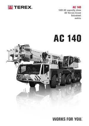 All-terrain kranen Terex-Demag AC 140