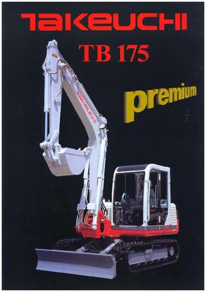 Rupsgraafmachines Takeuchi TB 175 CV