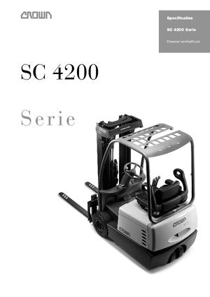 Elektrische vorkheftrucks Crown SC 4240 1,6