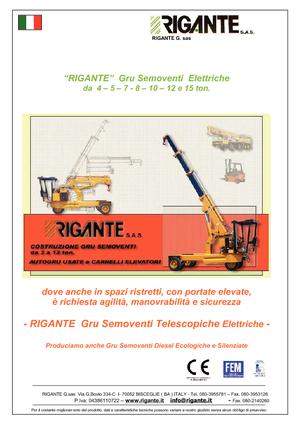 Industriële mobiele kranen Rigante GR 50