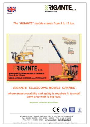 Industriële mobiele kranen Rigante GR 100