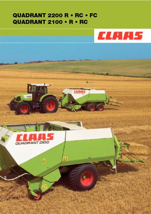 Vierkante-balenpersen Claas Quadrant 2200 FC