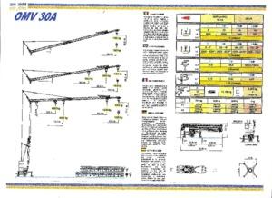 Torenkranen - Trolley-arm - Onder draaiend Euro-Kran Stiefel OMV 30 A